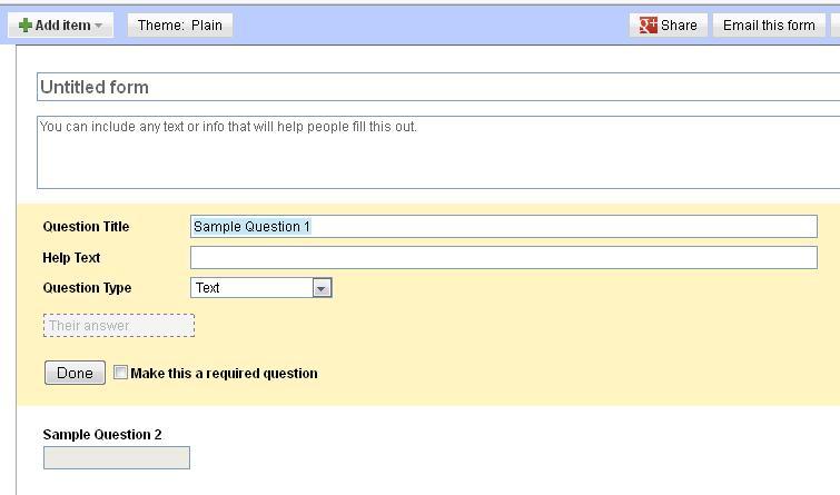 Membuat Kuesioner Online Dengan Google Docs (2/6)