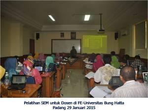 Pelatihan SEM di FE UBH 29 Januari 2015